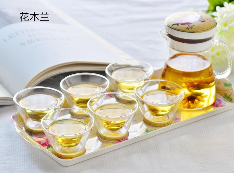 tang山骨质瓷玻璃茶具