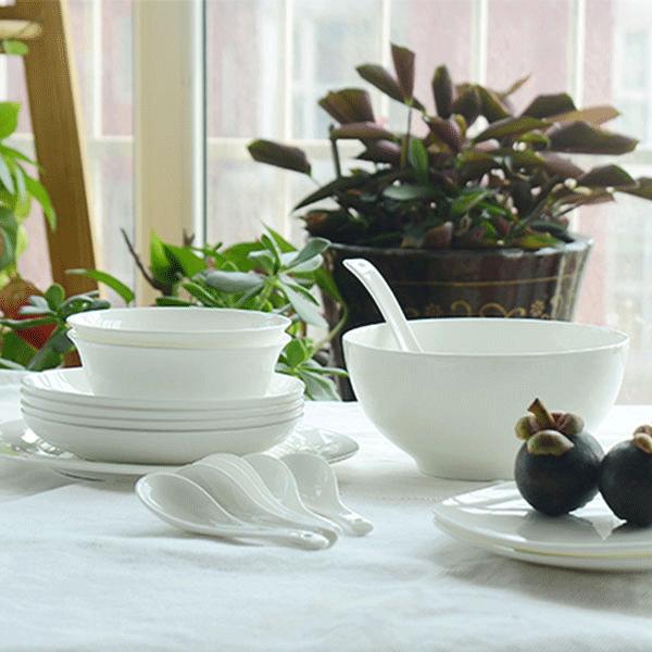 唐shangu瓷餐具陶瓷纯白套装批发