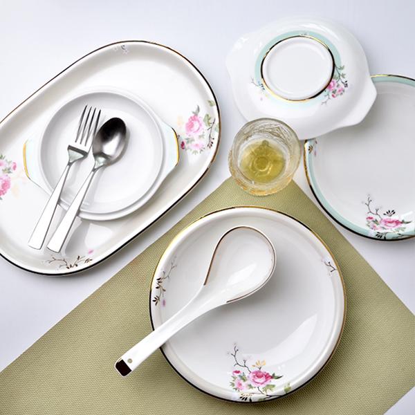 骨瓷餐具套zhuang碗盘碟