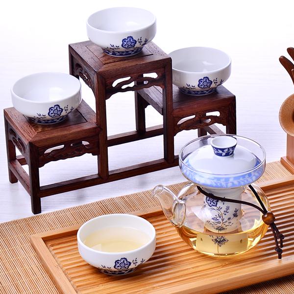 tang山骨瓷bo璃花茶茶杯定制